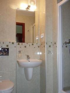 Nowoczesne łazienki z prysznicem i WC.