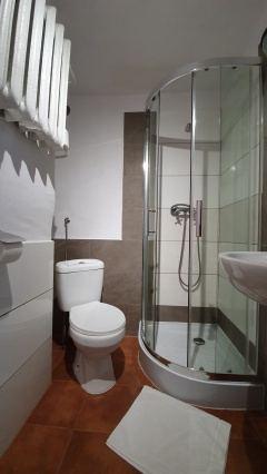 Wszystkie pokoje z WC i prysznicem.